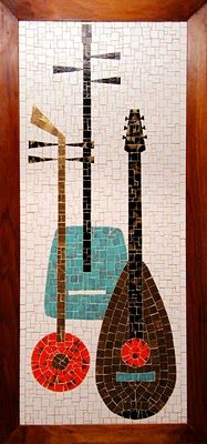 If you couldn't already tell, I am a big fan of mid-century mosaic art. I am always on the look out for mosaic panels, tables and murals. Mid Century Wall Art, Mid Century Decor, Mid Century House, Mid Century Modern Design, Mid Century Style, Mosaic Glass, Mosaic Tiles, Stained Glass, Decoration
