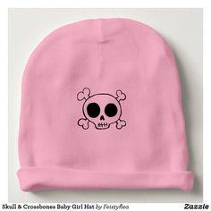 Skull & Crossbones Baby Girl Hat
