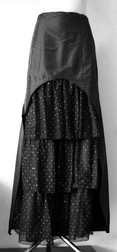 Handmade Maxi Skirt Party  Victorian Steampunk by MODAJAGODA, $42.00  USE TOP OF SKIRT IDEA TO CUT DOWN ON BULK
