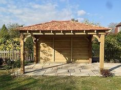 Wooden Gazebo, X Car Port With Cedar Shingles Built To Order Large Gazebo, Diy Gazebo, Hot Tub Gazebo, Wooden Gazebo, Backyard Gazebo, Pergola Canopy, Gazebo Ideas, Carport Ideas, Driveway Ideas