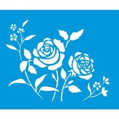 Stencil Opa 20x25 - Flores Roseira OPA1408