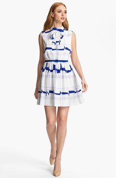 Milly Secretary Silk A-Line Dress available at #Nordstrom