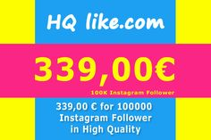 You want to be famous and successful? Are you a model, blogger or entrepreneur? With more than 100k follower you will be more successful.  We have the solution for you too.  https://hqlike.com  https://hqlike.com/Sale/Instagram/Instagram_Follower   https://hqlike.com/Sale/Instagram/Instagram_Follower/100000_HQ_Instagram_Follower