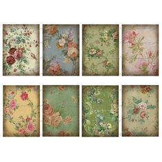 These make beautiful background papers...... facilisimo.com