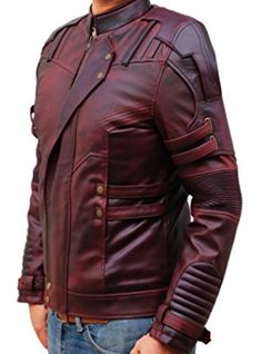 Coats & Jackets Fearless Men's Classic Biker Fitted Designer Style Oxblood Hide Leather Jacket