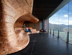 Snøhetta are finally building something at Snøhetta, the firm's namesake mountain. The pavilion at Tverrfjellet mediates between the human scale and the mountain massive of Dovrefjell.