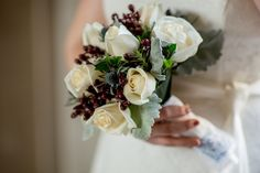 For a winter wedding at San Francisco City Hall Hand Tied Bouquet, Blue Wedding Flowers, Elope Wedding, San Francisco, Bride, City, Winter, Floral, Color