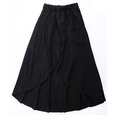 Pink Fashion Asymmetry Ladies Chiffon Skirt One Size @RKD954887p ($12) via Polyvore