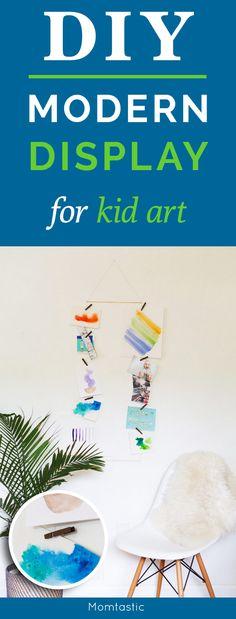 DIY modern display for kid art