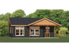 You are purchasing the PDF file for this plan. An estimated materials list for the doors, windows, and general wood framing, also in PDF format. Garage House, House 2, Cottage House, House Plans For Sale, Cabin House Plans, House Floor Plans, Cabin Kits, Cabin Ideas, House Ideas