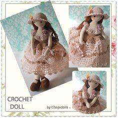 CROCHET DOLL poupée finie poupée de collection par chepidolls sur Etsy