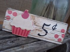 Cupcake Kitchen Shabby Cottage Chic Sign by ELouiseBoutique, $10.00