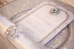 Elegant Invitations With Crystals