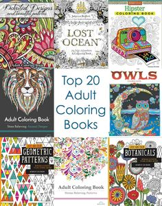 """Wondering which adult coloring books should be on your wish list? These are my top 20 - I've owned and tried them all, and these are the """"must haves!"""""""