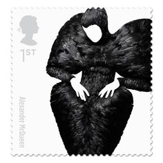 There's an Alexander McQueen stamp. Thank you Johnson Banks for creating great british fashion stamps