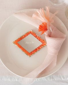 Day-Of Wedding Stationery Inspiration and Ideas: Fringe via Oh So Beautiful Paper