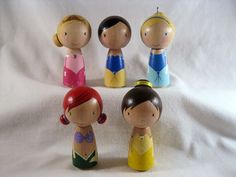 The Original Fairytale Princess Kokeshi Peg Doll by knottingwood, $85.00