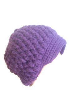 Handmade purple crochet hat with purple by modelknitting on Etsy, $23.00