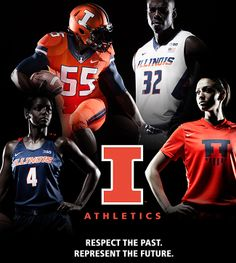 Fighting #Illini Athletics, in partnership with Nike, introduced a new brand and identity system on April 16, 2014. http://www.fightingillini.com/identity