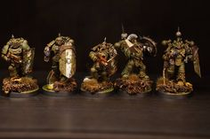 Late heresy Death Guard breachers by Thomas Fordal of The Horus Heresy Painting And Modelling Group