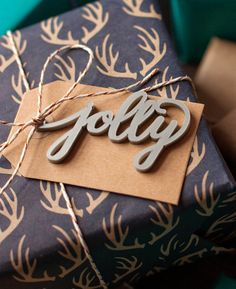 Jolly Hand Lettered Christmas Gift Tag available at peppersprouts.com