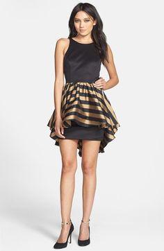 Alexia Admor High/Low Peplum Ponte Sheath Dress | Nordstrom