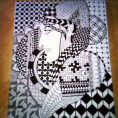 Face2Face zentangle artwork nr 3