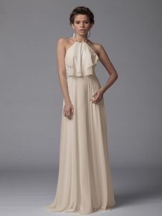 Can be shortened: Pin to Win a Wedding Gown or 5 Bridesmaid Dresses! Simply pin your favorite dresses on www.forherandforhim.com to join the contest! | Pleated Chiffon Dress $154.99