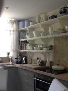 Kitchen corner Kitchen Corner, Beautiful Homes, Bookcase, Shelves, Space, Home Decor, House Of Beauty, Floor Space, Shelving