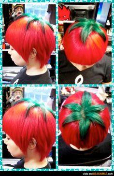 Llega la moda del peinado tomate.