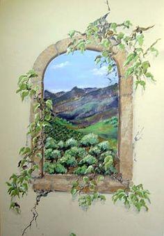 Tuscan Window Mural | Tuscan Window 2 - Mural Idea in Bountiful UT