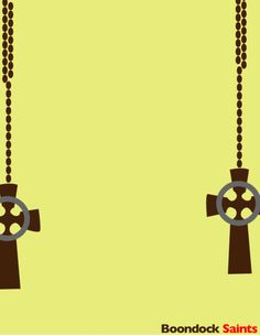 Minimalist poster for The Boondock Saints... Before they self destructed in part 2...
