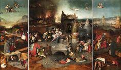 Jheronymus Bosch (Assinado - canto inferior esquerdo do painel central, Hertogenbosch, c. 1450-1516)  c. 1500  Óleo sobre madeira de carvalho  131,5 x 119 cm (painel central) e 131,5 x 53 cm (painéis laterais)  Proveniência: Palácio das Necessidades, Lisboa, 1913