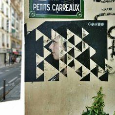 Artist combo - street art paris 2 le sentier - rue des petits carreaux juin 2015