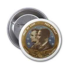 Obama and Lincoln Buttons