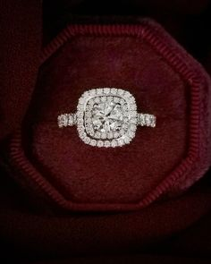 This beautiful diamond ring is set in white gold. The centre stone is a round brilliant cut diamond. This diamond is D in colour, in clarity and GIA certified. Double Halo Rings, Beautiful Diamond Rings, Gia Certified Diamonds, Halo Diamond Engagement Ring, Cushion Cut, Clarity, Diamond Cuts, Centre, White Gold