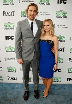 Dax Shepard and Kristen Bell attend the 2014 Film Independent Spirit Awards at Santa Monica Beach in Santa Monica, Calif., on March Hollywood Couples, Celebrity Couples, Kristen Bell And Dax, Dax Shepard, Nia Long, Spirit Awards, Film Awards, Red Carpet Looks, Christina Hendricks