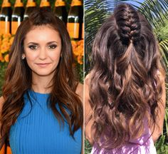 How chic is Nina Dobrev's mohawk center braid? Learn how to get the hairstyle here!