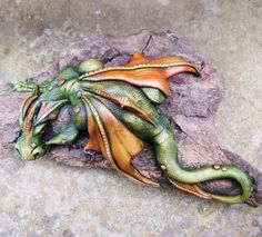 OOAK hand-sculpted dragon by Traci Howard Leicester, United Kingdom