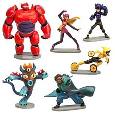 Disney Big Hero 6 Figure Play Set - 6 Piece Play set NIB #Disney