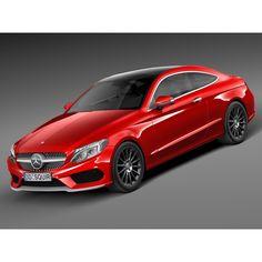 Mercedes-Benz C-class Coupe 2017 - 3D Model