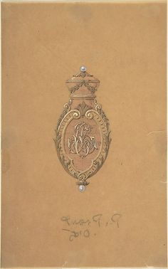Design for Jewelry 19th Century French