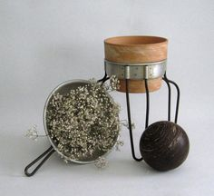 Vintage Country Garden Aluminum Colander Sieve by outofdoha2010, $15.00