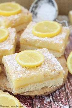 Light and refreshing LeMoN BaRS - a buttery cookie crust topped with a luscious lemon cream filling!!