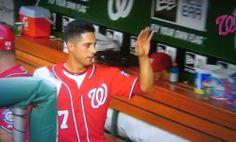 Gio Gonzalez high fives nobody like a boss #Natitude #DC
