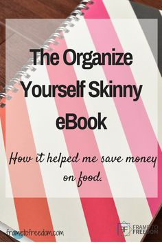 The Organize Yourself Skinny eBook helped me save money on food, save time on meal prep and save time planning meals. Read the full review to find out details! http://frametofreedom.com/organize-skinny-ebook-save-money-food/