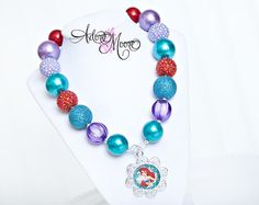 Ariel Little Mermaid Necklace Disney Kids by AdoreMooreBoutique, $22.00