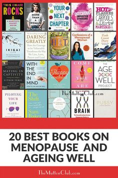 Our favorite books about menopause, making the very best of midlife and ageing well. Because knowledge is power! Check this out now or pin for later! #agingwelltips #menopausebooks