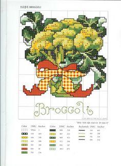 Arte by Cachopa - Ponto Cruz I: Gráfico - Legumes