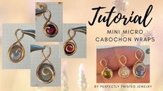 Wire Wrapping Tutorial - Mini Micro Cab Wraps, One Wire, Beginner Handmade Wire Jewelry, Etsy Jewelry, Jewelry Stores, Copper Jewelry, Jewelry Shop, Wire Wrapped Earrings, Wire Wrapped Pendant, Wire Wrapping Tutorial, Garnet And Gold
